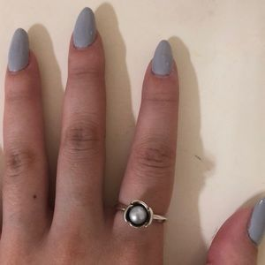 Grey Pearl Pandora 100% Authentic Ring